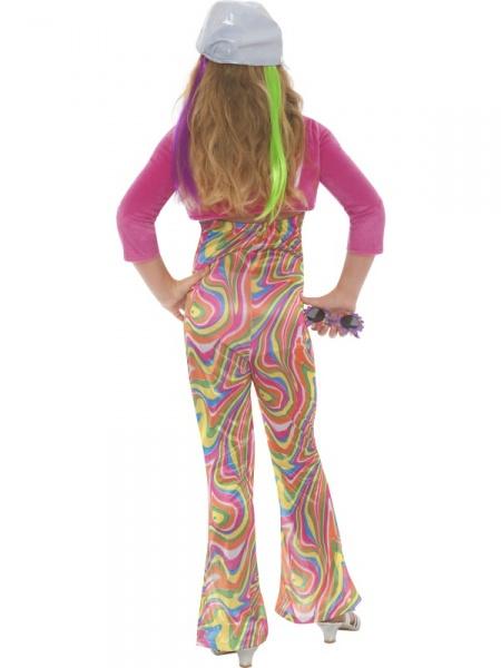 db239579e363 Detský kostým v štýle disco môžete zaobstarať svojej ratolesti aj na hippie  alebo retro párty. Balenie obsahuje farebný overal