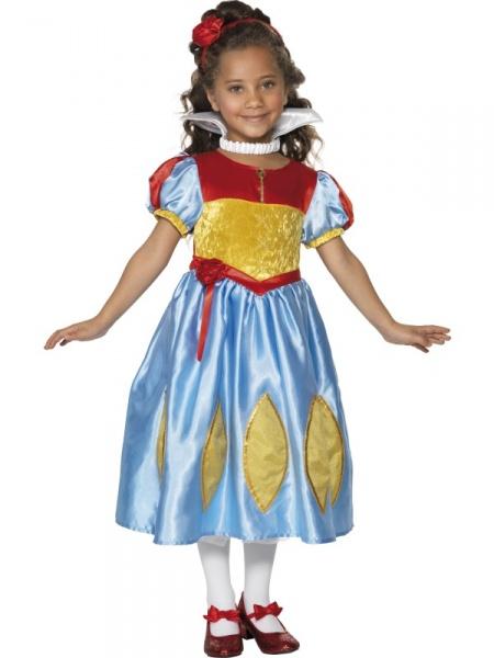 Detský kostým Snehulienka - dlhé šaty - Karneval 366206f657b