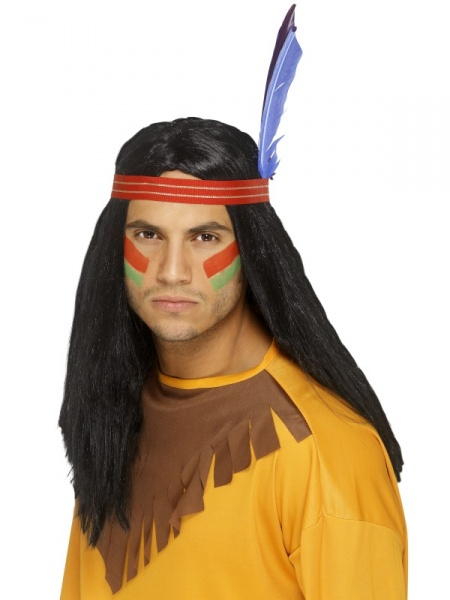 Fúzy a farby na vlasy pánske karnevalové parochne parochňa indián