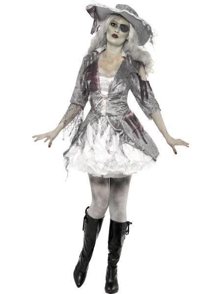 Kostým Zombie pirátka - deluxe - Karneval 0938df8b17d