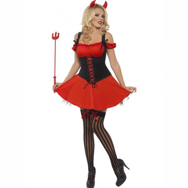 Červeno čierny dámsky diabolský kostým - Karneval b7a41faba14