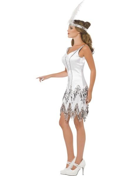 Dámsky kostým 20. roky - biely - Karneval 0170323cdcc
