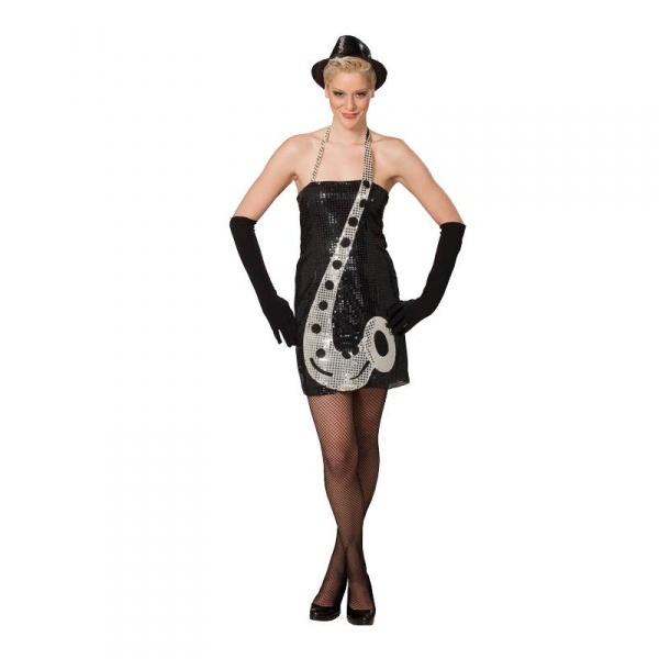 Sexy trblietavé šaty Saxofón - Karneval 19c0ca5a892