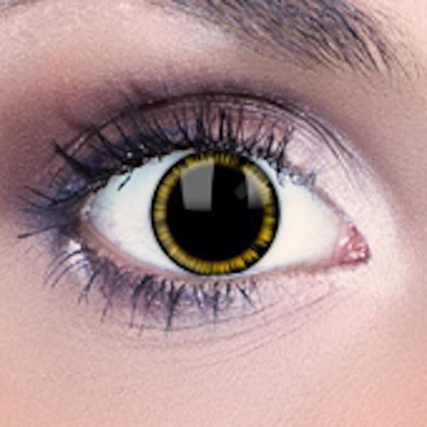 ebf1e1d14 Kontaktné šošovky - Žltý plameň - Karneval